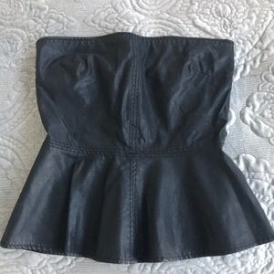 Zara black Foe Leather Top